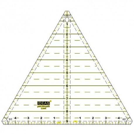Triangle 30 en 60 graden driehoek in inch C3896
