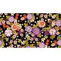 Kimono Chrysantheum black 2042 X