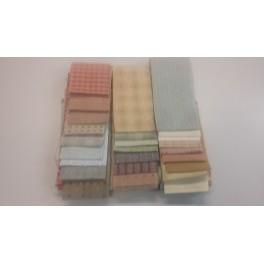 Strippakket geweven stoffen Pastelkleur