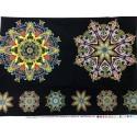 Panel Paula nadelstern oranje/geel multi