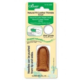 Natural leather thimble small 6028